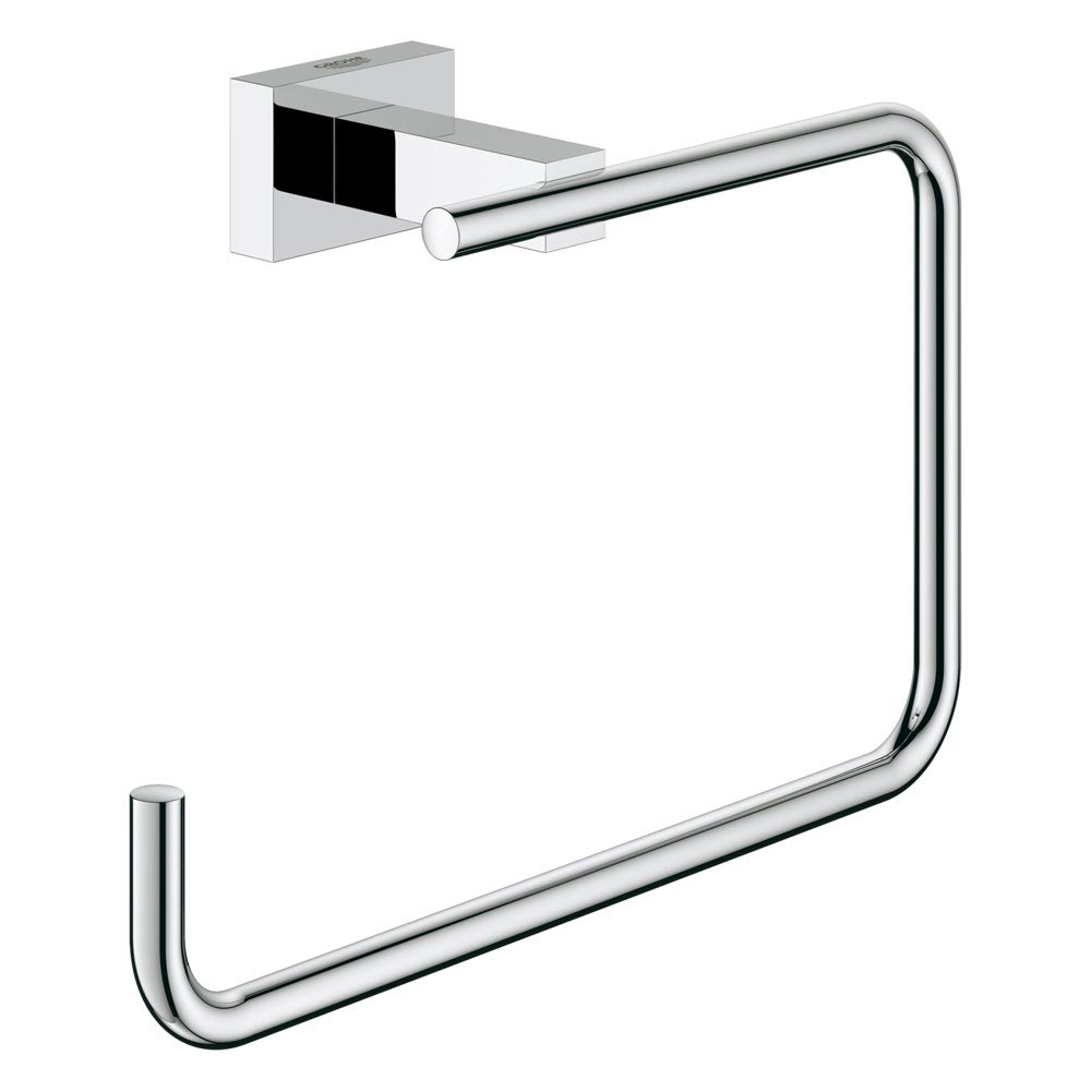Grohe Essentials Cube Towel Ring - 40510001 Large Image