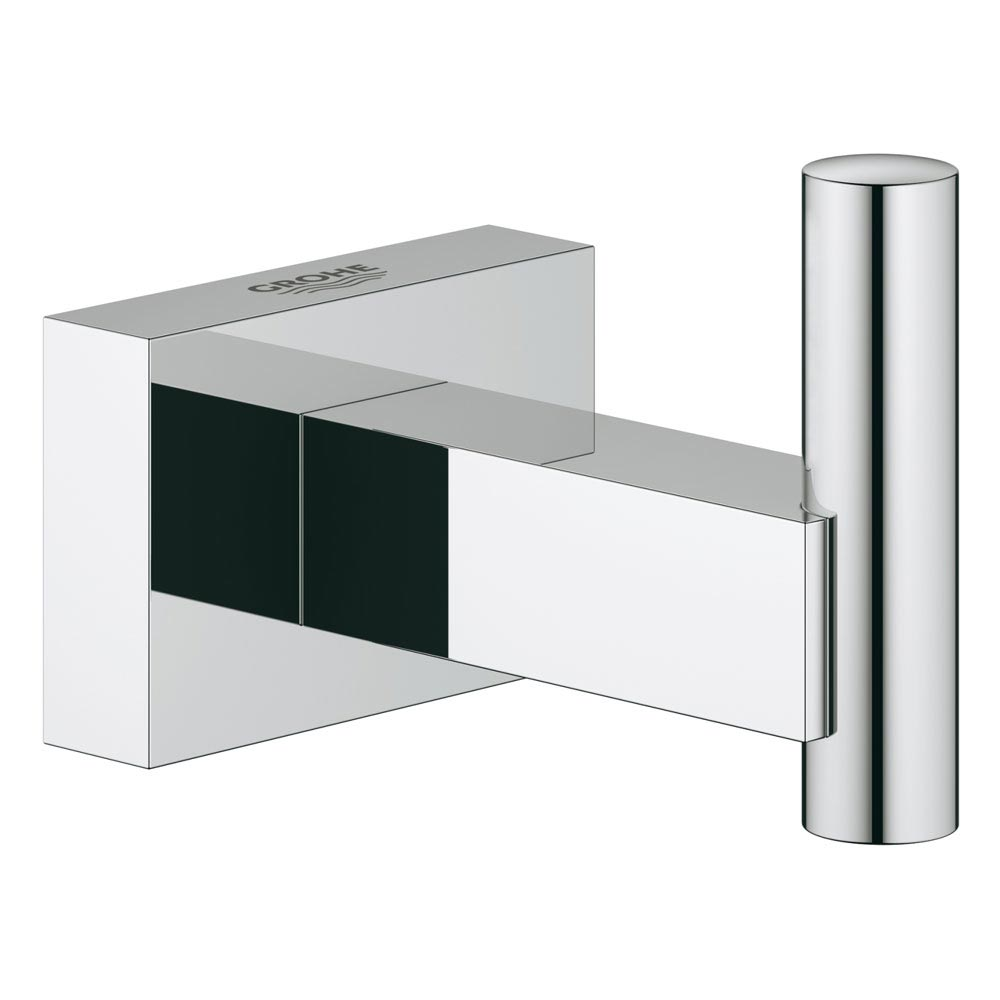 Grohe Essentials Cube Robe Hook - 40511001 profile large image view 1