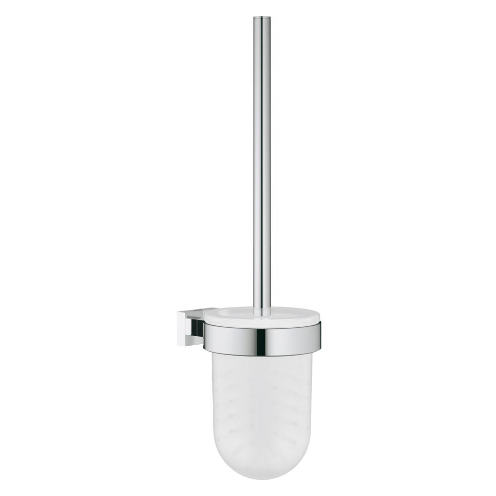 Grohe Essentials Cube Toilet Brush Set - 40513001 Large Image