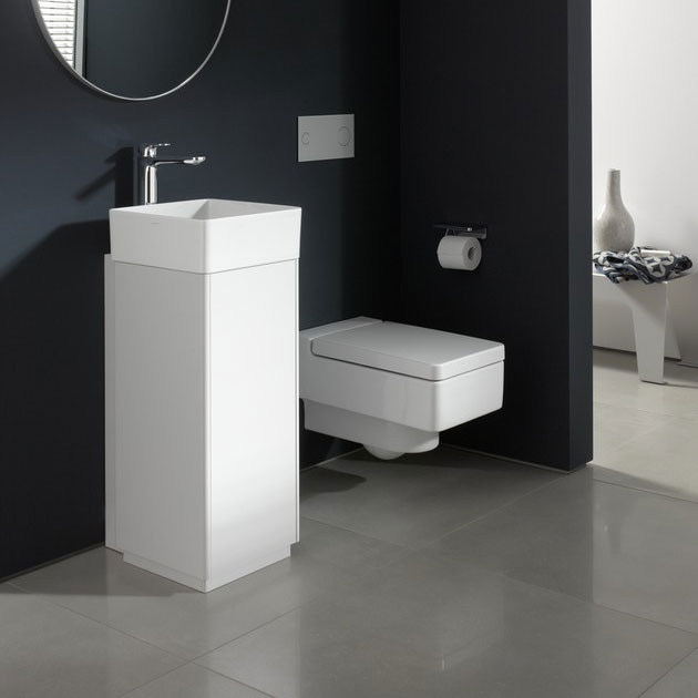 Laufen - Living Square 350mm 1 Door Vanity Unit with Ceramic Basin - Left or Right Hand Option Profile Large Image