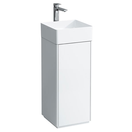 Laufen - Living Square 350mm 1 Door Vanity Unit with Ceramic Basin - Left or Right Hand Option