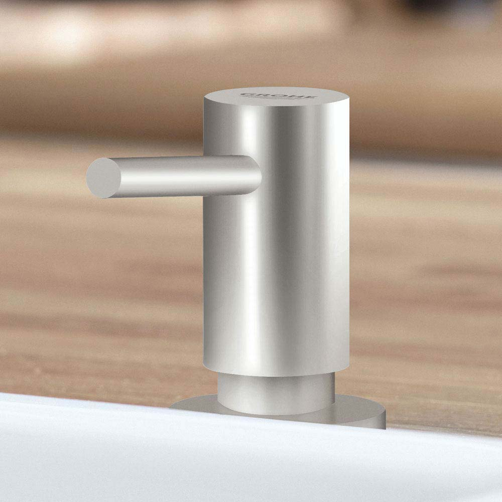Grohe Cosmopolitan Soap Dispenser - SuperSteel - 40535DC0 profile large image view 2