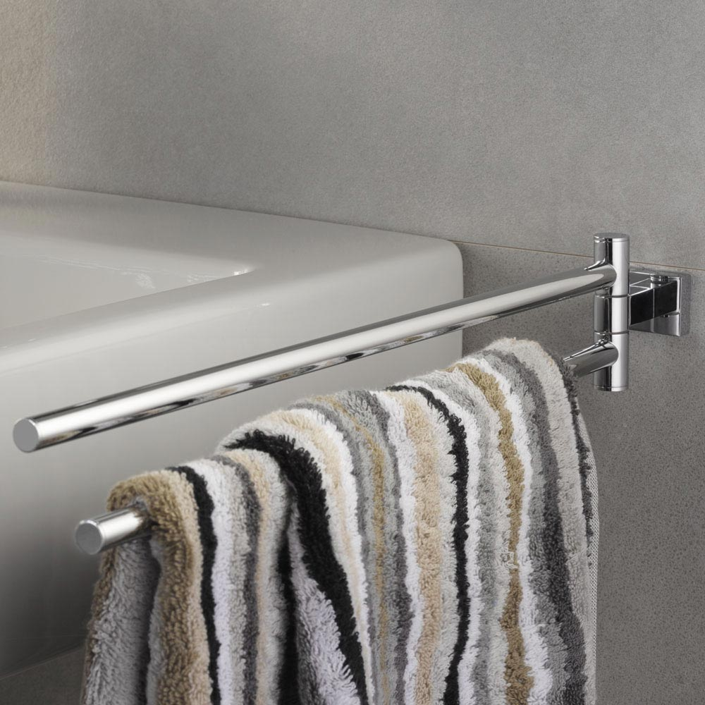 Grohe Essentials Cube Double Towel Bar - 40624001  Profile Large Image