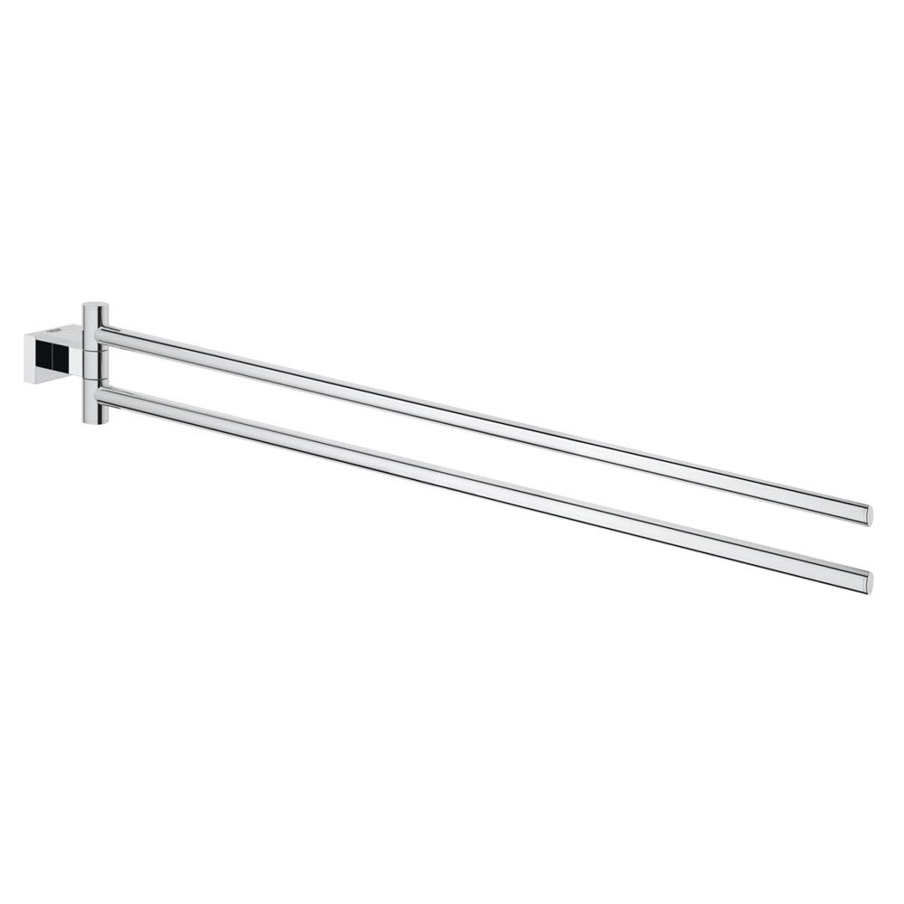 Grohe Essentials Cube Double Towel Bar - 40624001 profile large image view 1