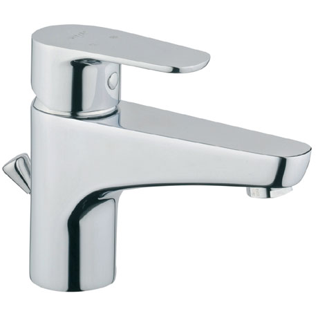 Vitra - D-Line Monobloc Basin Mixer with Pop-up Waste - Chrome - 40751