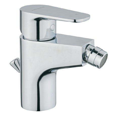 Vitra - D-Line Monobloc Bidet Mixer with Pop-up Waste - Chrome - 40752