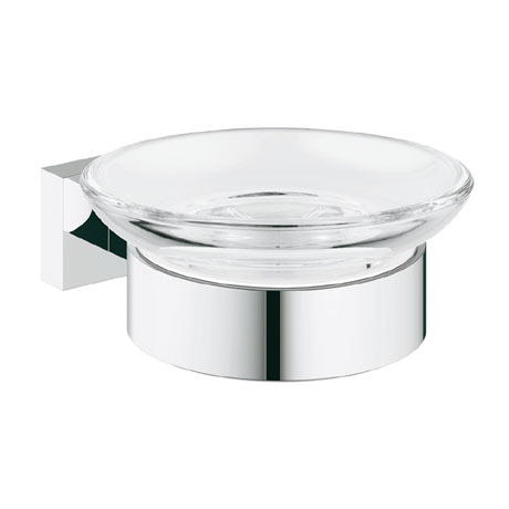 Grohe Essentials Cube Soap Dish with Holder - 40754001