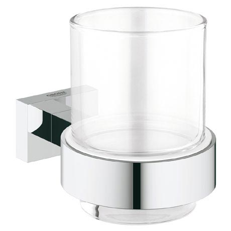 Grohe Essentials Cube Glass Tumbler with Holder - 40755001