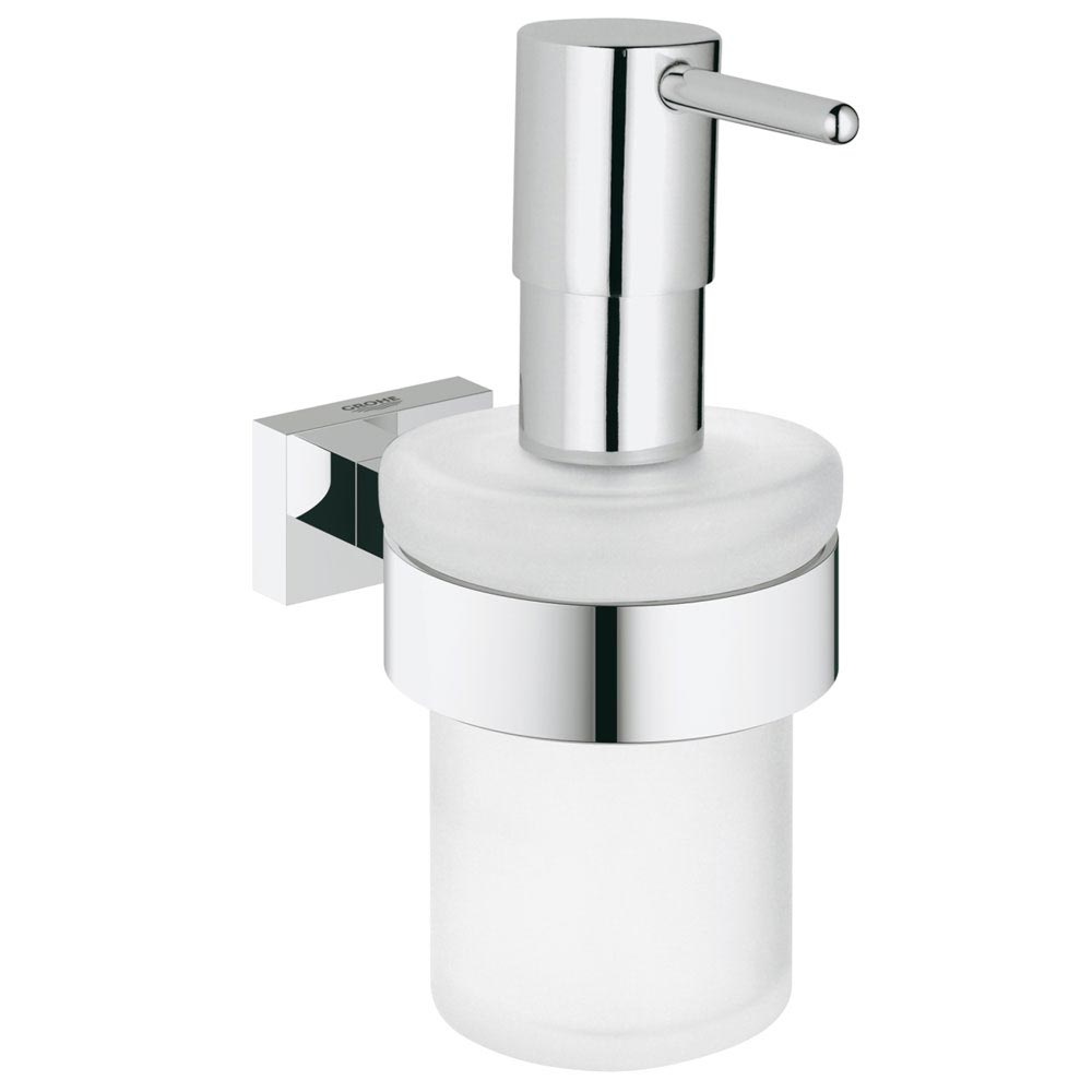 Grohe Essentials Cube Soap Dispenser and Holder - 40756001 Large Image