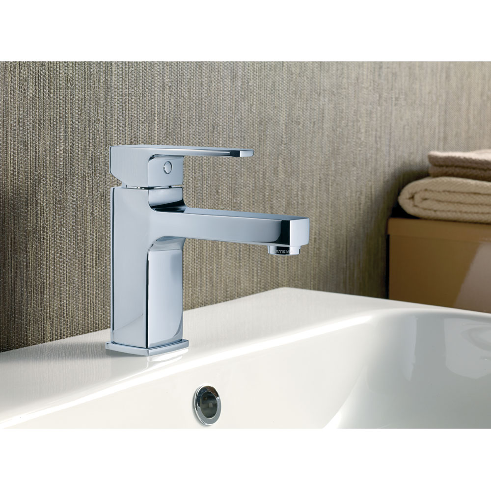 Vitra - Q-Line Monobloc Basin Mixer - Chrome - 40775 Profile Large Image
