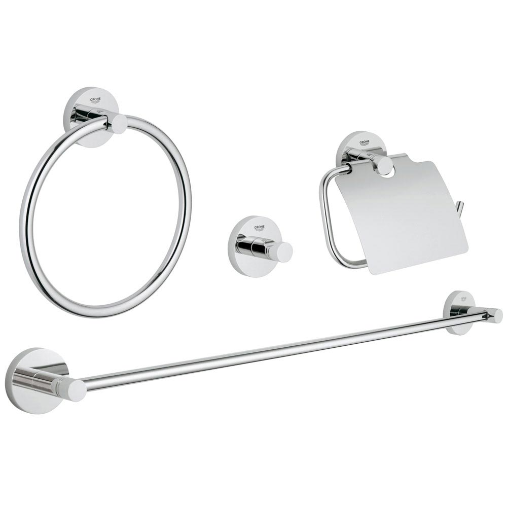 Grohe Essentials 4-in-1 Master Bathroom Accessories Set - 40776001 profile large image view 1