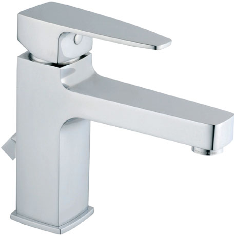 Vitra - Q-Line Monobloc Basin Mixer with Pop-up Waste - Chrome - 40776