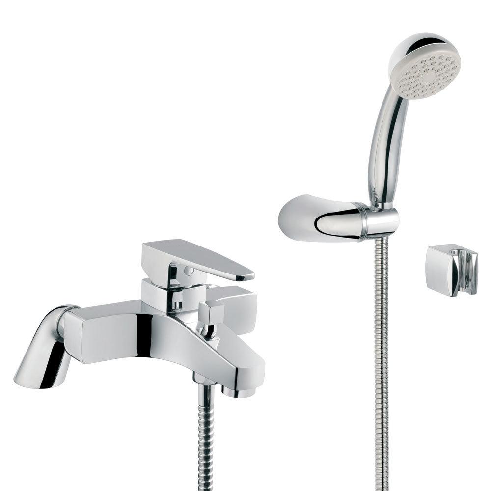 Vitra - Q-Line Bath Shower Mixer with Kit - Chrome - 40783 Large Image