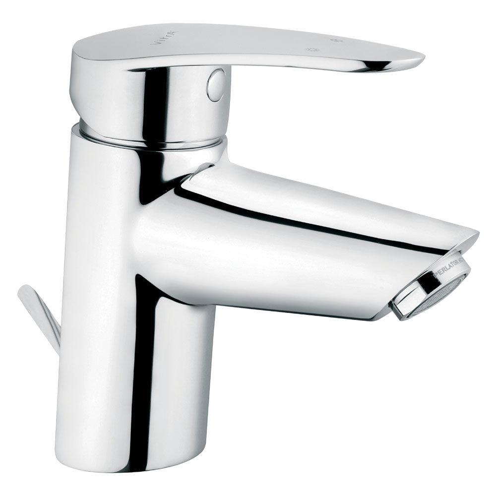Vitra - Dynamic S Monobloc Basin Mixer with Pop-up Waste - Chrome - 40962 Large Image