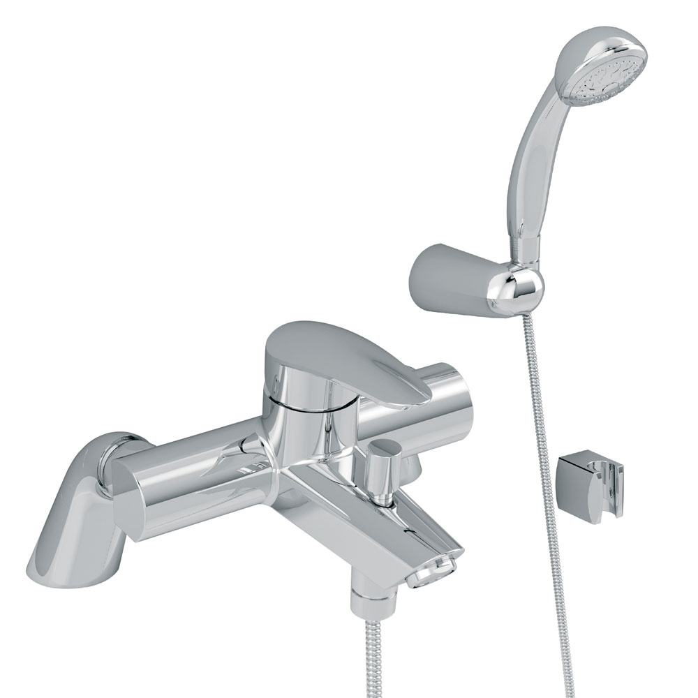 Vitra - Dynamic S Bath Shower Mixer with Kit - Chrome - 40964 profile large image view 1