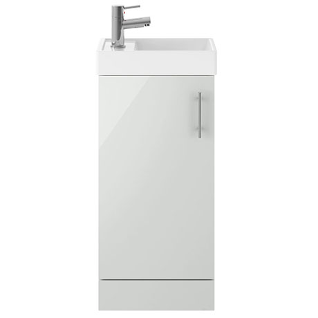400mm Grey Mist Small Floor Standing Vanity Basin Unit