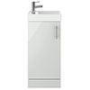 400mm Grey Mist Small Floor Standing Vanity Basin Unit profile small image view 1