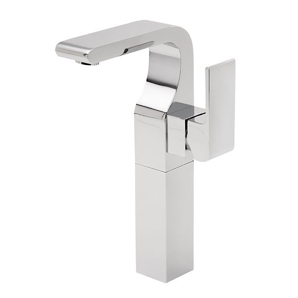 Tre Mercati - Rubik Extended Mono Basin Mixer with Click Clack Waste - 41060 Large Image