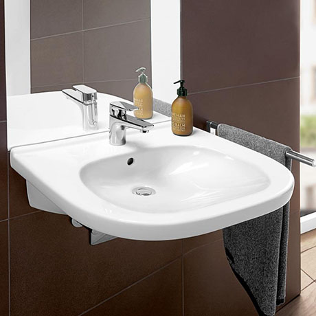 Villeroy and Boch ViCare 555mm Wheelchair Accessible Washbasin - 41195501