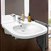 Villeroy and Boch ViCare 555mm Wheelchair Accessible Washbasin - 41195501 profile small image view 1