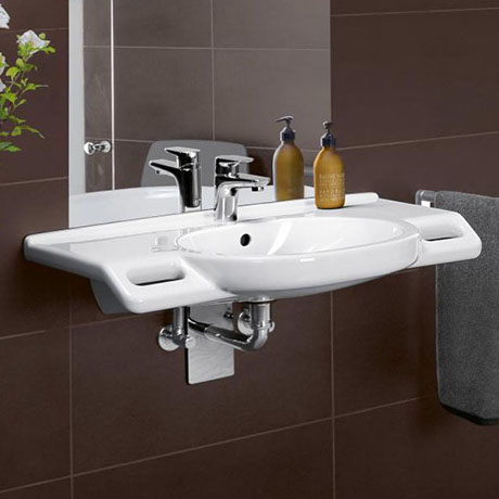 Villeroy and Boch ViCare 810mm Wheelchair Accessible Washbasin - 41208001