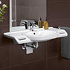 Villeroy and Boch ViCare 810mm Wheelchair Accessible Washbasin - 41208001 profile small image view 1