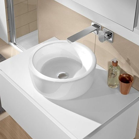Villeroy and Boch Architectura 400 x 400mm Round Countertop Basin - 41254001
