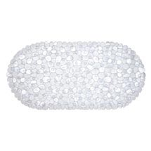 Aqualona Clear Pebbles Bath Mat - 360 x 690mm - 41307 Medium Image
