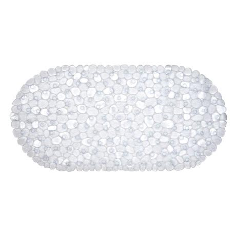 Aqualona Clear Pebbles Bath Mat - 360 x 690mm - 41307