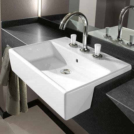 Villeroy and Boch Memento 550 x 420mm 1TH Semi-Recessed Basin - 41335501