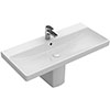 Villeroy and Boch Avento 1TH Basin + Semi Pedestal profile small image view 1