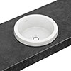 Villeroy and Boch Architectura 415 x 415mm Round Inset Basin - 41654001 profile small image view 1