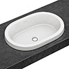 Villeroy and Boch Architectura 615 x 415mm Oval Inset Basin - 41666001 profile small image view 1