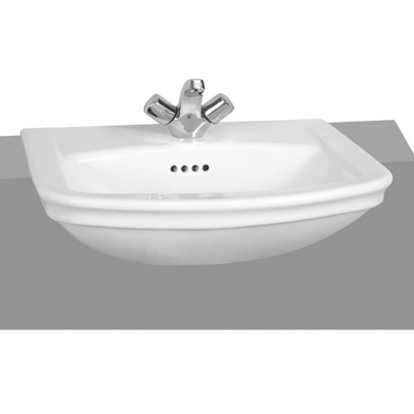 Vitra - Serenada Semi-Recessed Basin - 1 or 2 Tap Hole Option