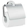 hansgrohe Logis Universal Toilet Roll Holder with Cover - 41723000 profile small image view 1