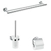 hansgrohe Logis Universal 3-Piece Bathroom Accessories Set - 41727000 profile small image view 1