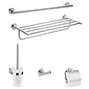 hansgrohe Logis Universal 5-Piece Bathroom Accessories Set - 41728000 profile small image view 1