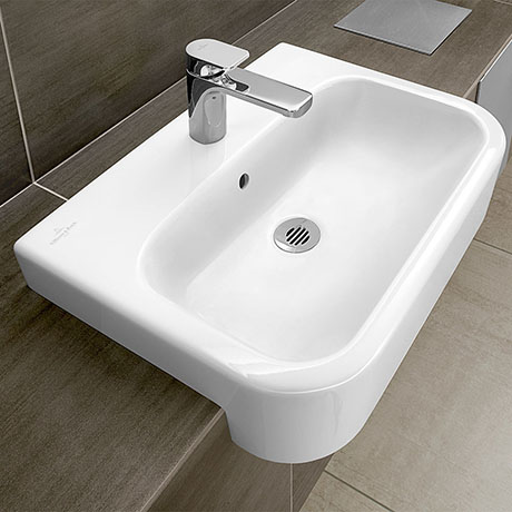 Villeroy and Boch Architectura 550 x 430mm 1TH Semi-Recessed Basin - 41905501