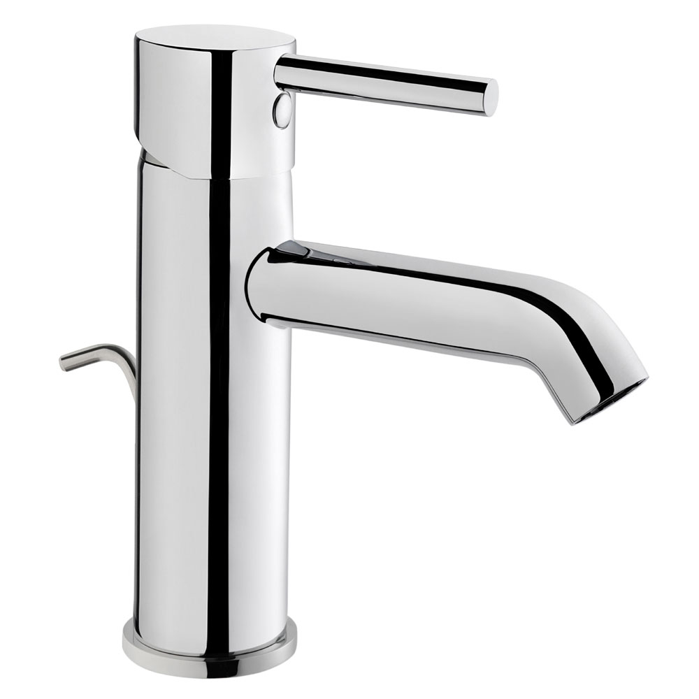 Vitra - Minimax S Monobloc Basin Mixer with Pop-up Waste - Chrome - 41986 profile large image view 1