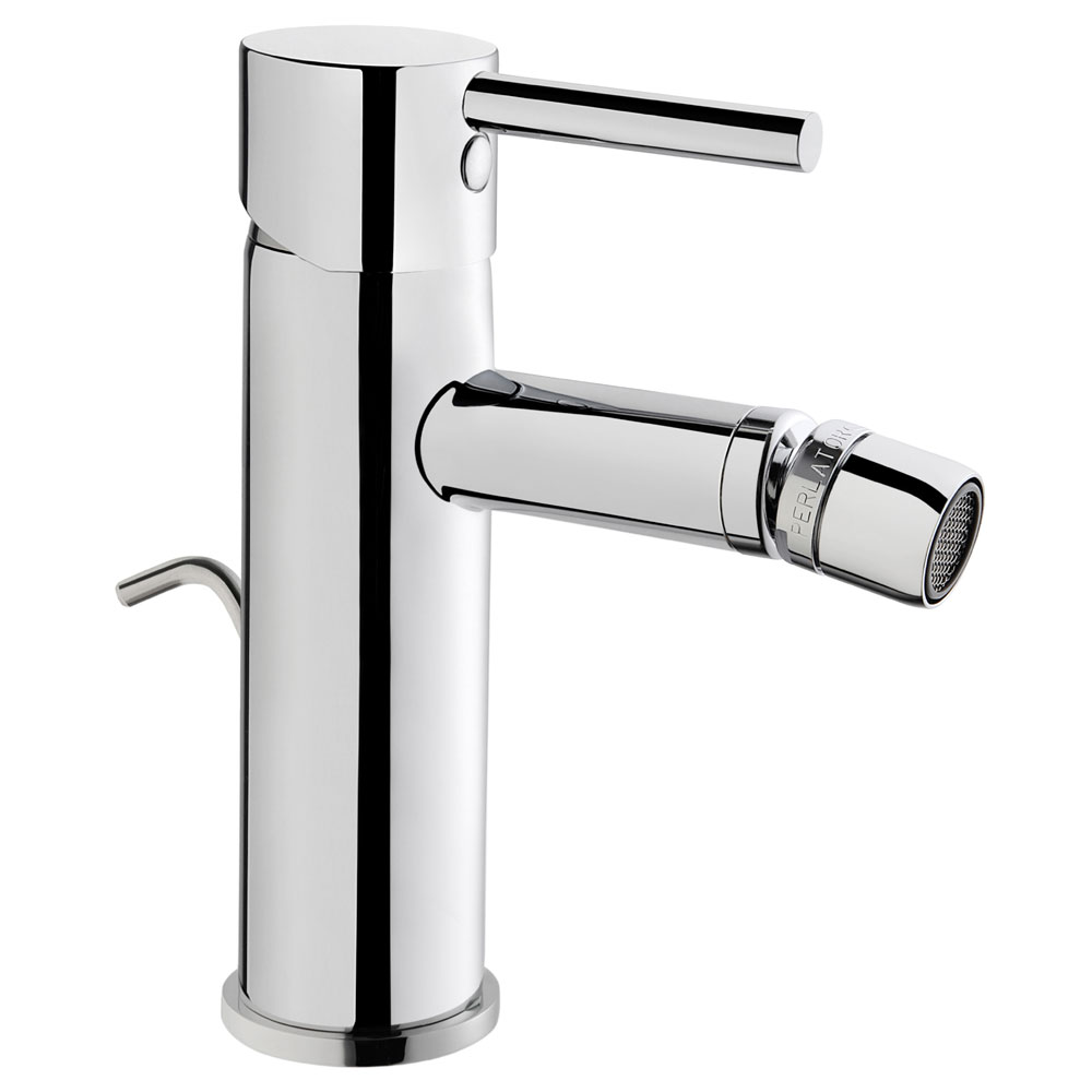 Vitra - Minimax S Monobloc Bidet Mixer with Pop-up Waste - Chrome - 41988 Large Image