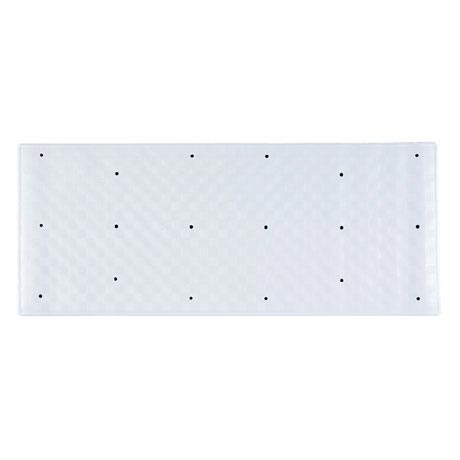 Aqualona Large White Roman Bath Mat - 370 x 900mm - 42045