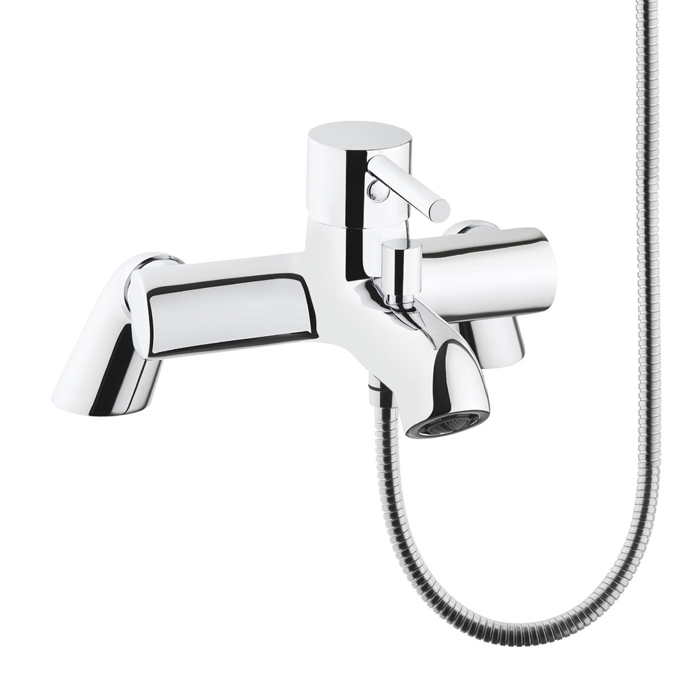 Vitra - Minimax S Bath Shower Mixer with Kit - Chrome - 42112 profile large image view 2