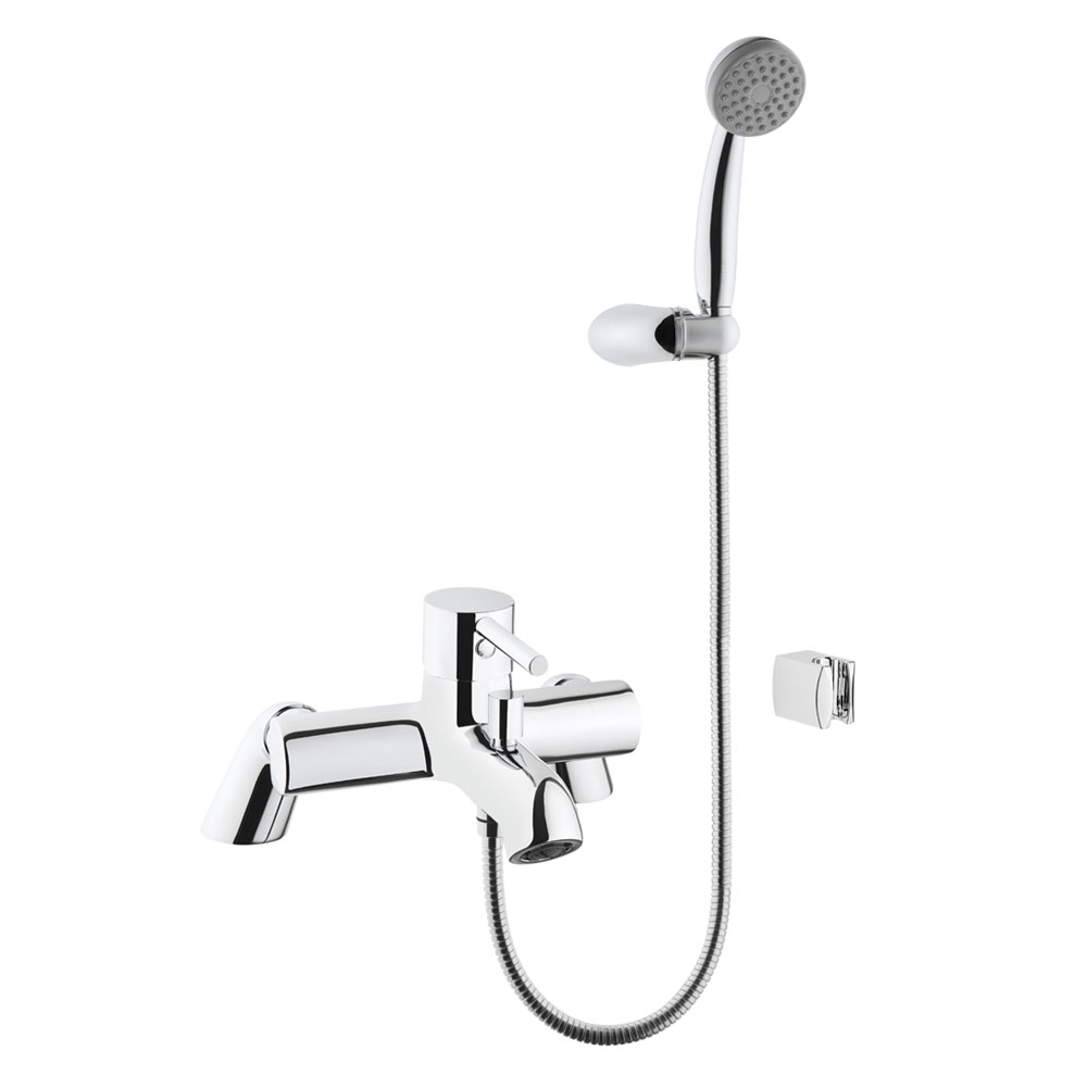 Vitra - Minimax S Bath Shower Mixer with Kit - Chrome - 42112 profile large image view 1