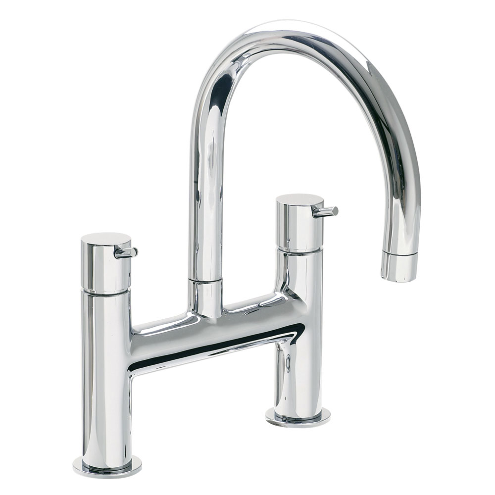 Vitra - Minimax S Deck Mounted Bath Filler - Chrome - 42113