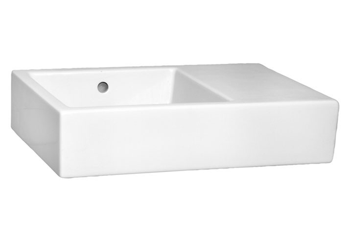 Vitra - Arkitekt K Basin with Right Hand Shelf profile large image view 1