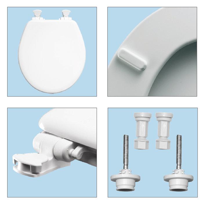 Bemis - Orlando Next Step 2 Antibacterial Soft Close Child Toilet Seat - 4250ELT000 profile large image view 4