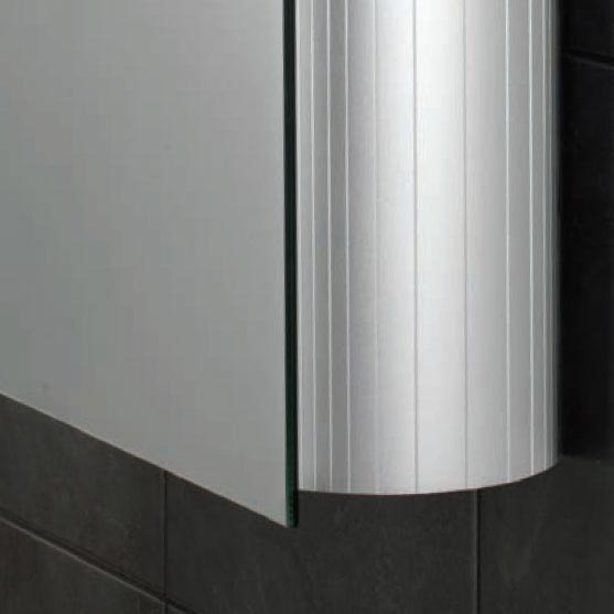 HIB Electron LED Aluminium Mirror Cabinet - 42600 profile large image view 3
