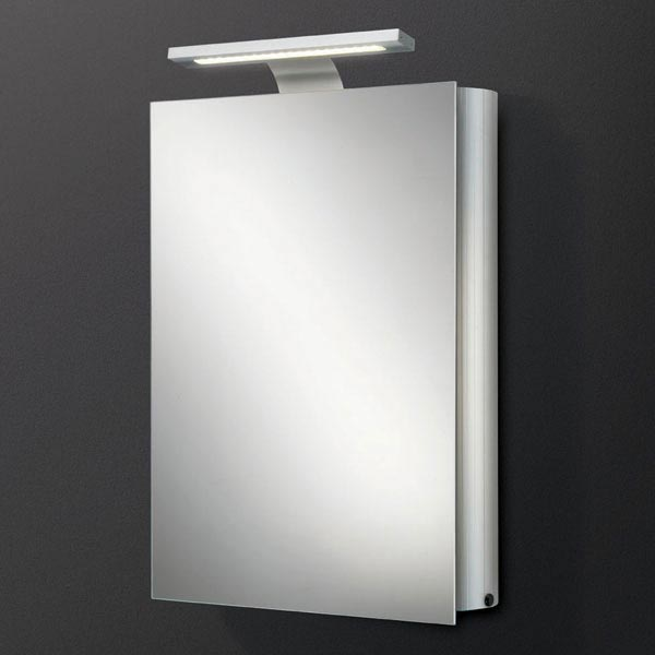 HIB Electron LED Aluminium Mirror Cabinet - 42600 profile large image view 1