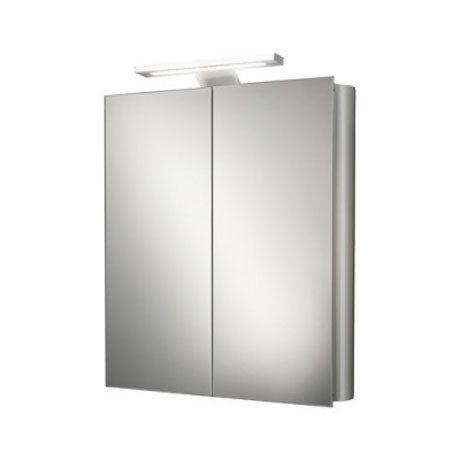 HIB Atomic LED Aluminium Mirror Cabinet - 42700 profile large image view 4