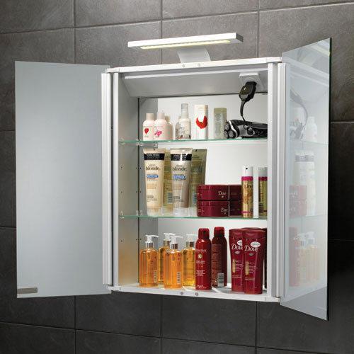 HIB Atomic LED Aluminium Mirror Cabinet - 42700 profile large image view 3